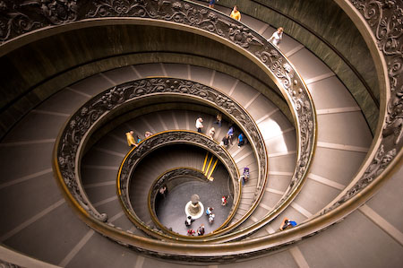 vatican staircase seashell