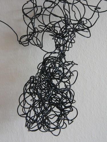 spiral wire figure - close up