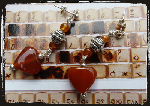 Orecchini rossi - Red earrings AMHIRIA