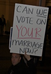 Can we vote on your marriage now? San Francisc...