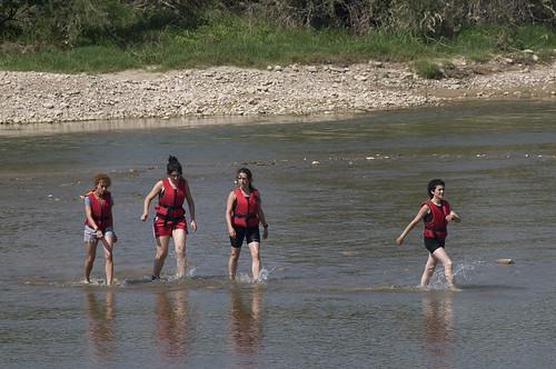 acción contra el dragado del Ebro ZGZ 10/07/08