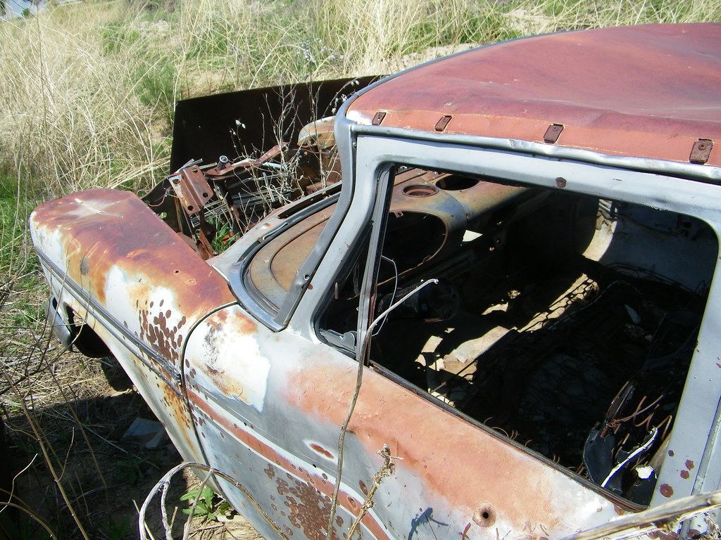 Rusted Old Plymouth Belvedere 1958