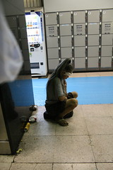 The end is near: Homeless woman , Street life, Tokyo