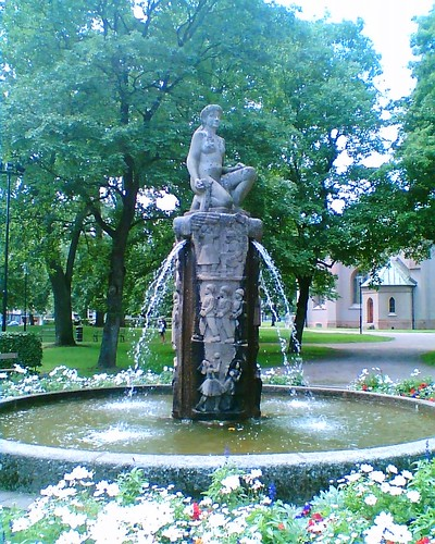 Church fountain
