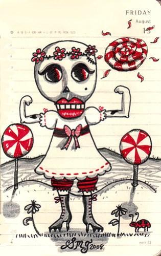 Lollypop steriods in Skull Land
