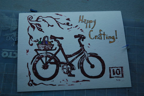Happy Crafting Postcard