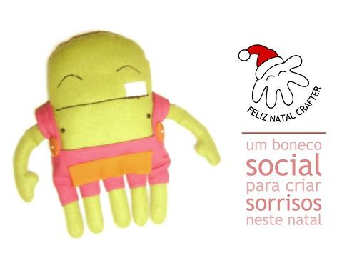 Projeto Feliz Natal Crafter - um boneco social para criar sorrisos neste natal