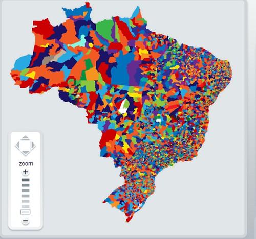 Mapa eleitoral brasileiro 2008, por municipios