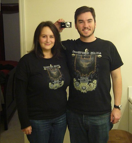 Chris and I in our WoW shirts