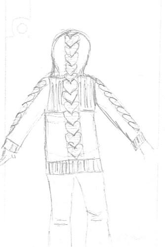 Cardi Sketch Back