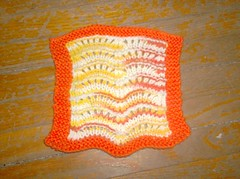 Sunny Scalloped Dishcloth