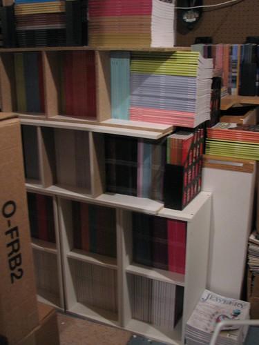 On the shelves