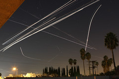 Airplanes Light Trails