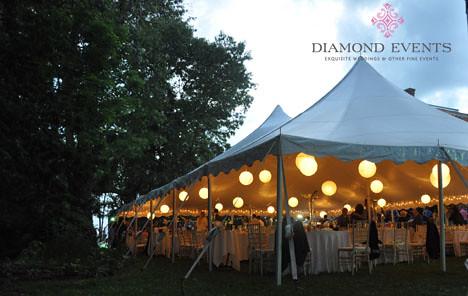 Tent at Rockwood Manor Wedding Reception