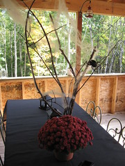 porch halloween table centerpiece