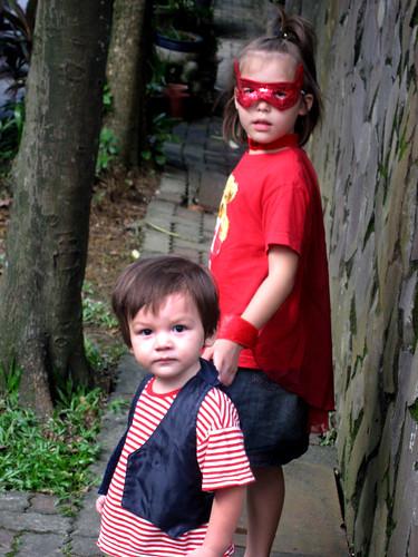 A pirate and a Firegirl