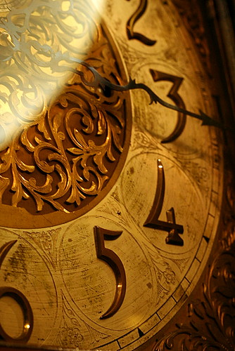 Grandfather Clock Face Waters building EXPLORE...
