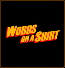 words on a shirt