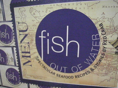 Fish out of Water menu (outside)