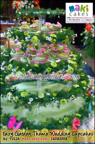Fairy Garden Theme Wedding Cupcakes- Setting2 - Maki Cakes