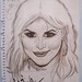 Kat Von D of LA Ink - drawing (autographed)