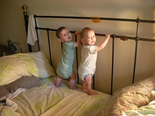 Babies standing