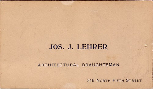 Grandfather Lehrer's Card