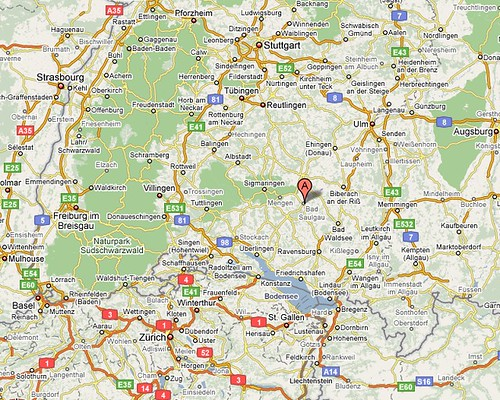 Location of Saulgau