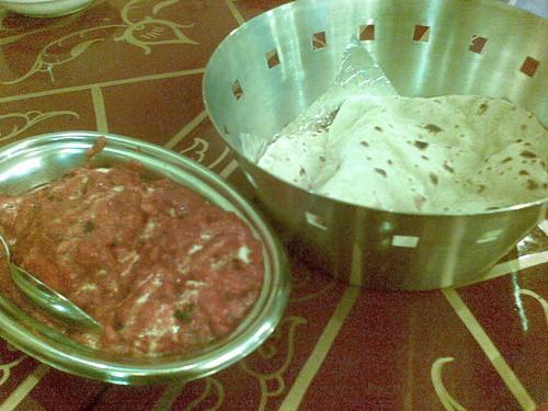 Chicken Masala and Chapatti at New Bombay