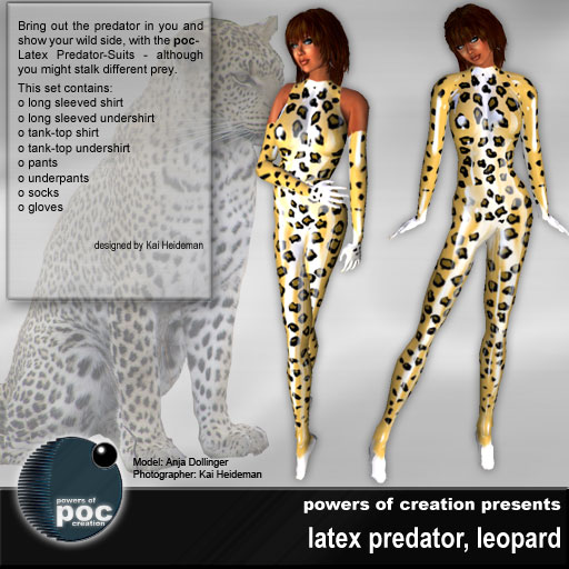 Leopard in latex
