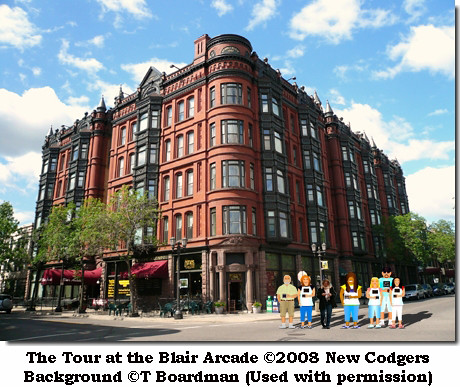 The Tour at the Blair Arcade ©2008 New Codgers