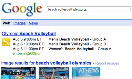 Google Olympics One Box