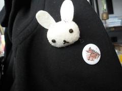 Bunny Head brooch