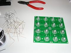 Done soldering leds