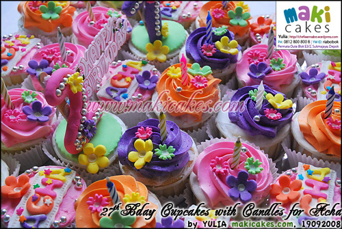 27th Bday Cupcakes for Acha_ - Maki Cakes