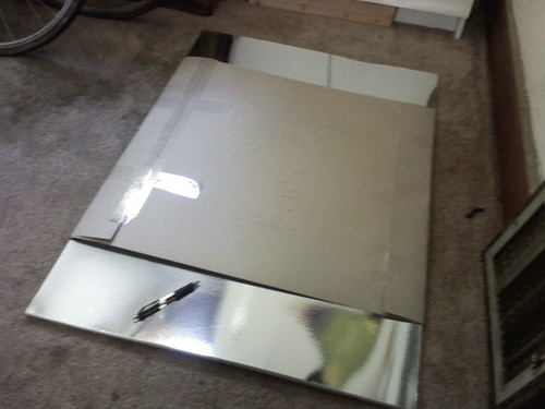 Big silvery stencil boards