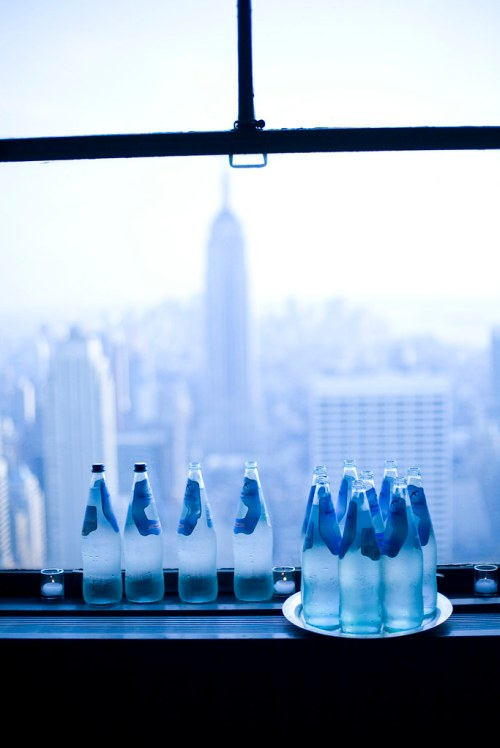 Water Bottles at the Rainbow Room