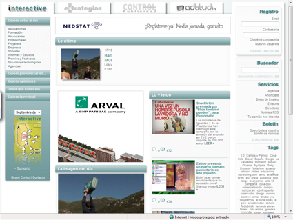 Nueva web de Interactiva (Grupo Control)