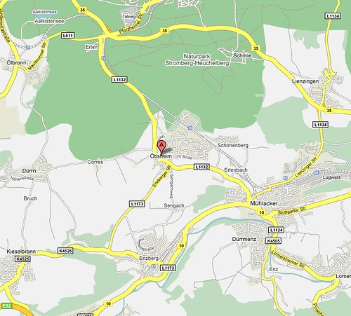 Map of Oetisheim and Enzberg