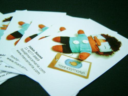 Cartões de visita finalizados