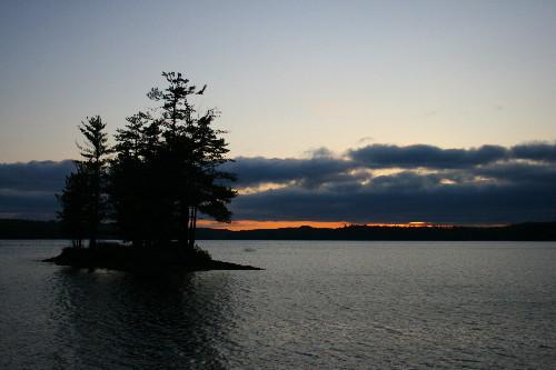 Sunset over Birch Lake