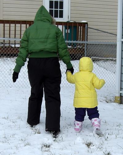 Cate's 1st Snowplay!