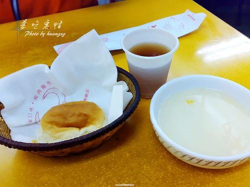 大統一--餐包、紅茶、玉米濃湯