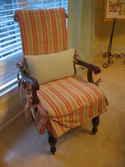 Slipcovered Vintage Armchair