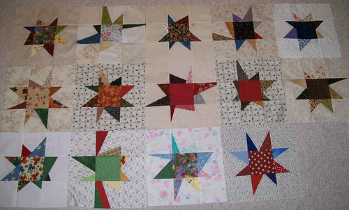 Bushfire Quilt Project VERY Wonky Stars