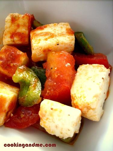 Paneer Tomato Salad - Paneer Salad Recipe