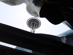 Peeking at the Space Needle