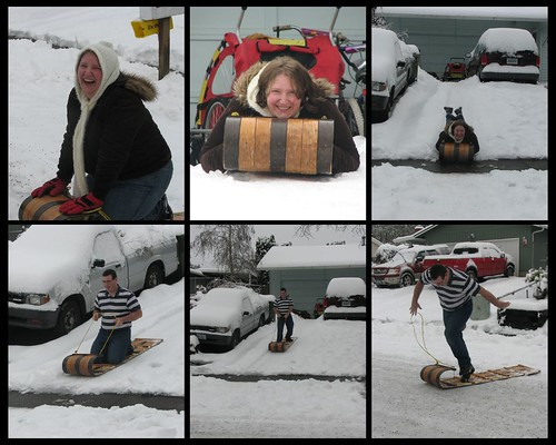 Adults Sledding December 21