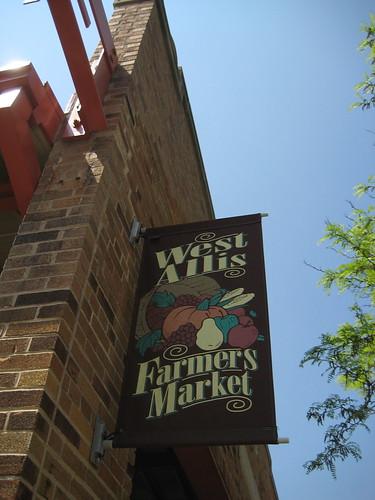 West Allis Farmer's Market sign