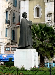 Statue of Ibn Khaldun, teacher & philosopher, ...